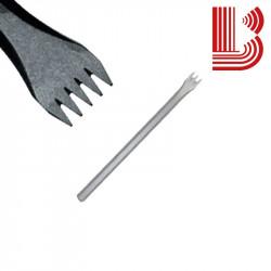 Gradina manuale acciaio lama 17 mm fusto 10 mm 5 denti