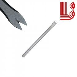 Gradina acciaio lama 10 mm fusto 8 mm 2 denti Ø7