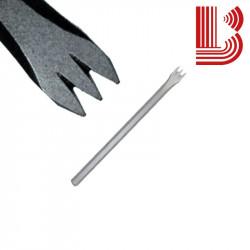 Gradina acciaio lama 10 mm fusto 8 mm 3 denti Ø7