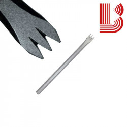 Gradina acciaio lama 14 mm fusto 10 mm 3 denti Ø7
