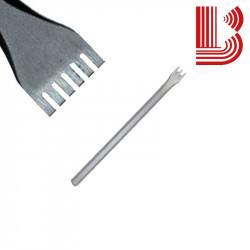 Gradina acciaio lama 20 mm fusto 10 mm 6 denti Ø7