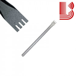 Gradina acciaio lama 19 mm fusto 12 mm 4 denti Ø12