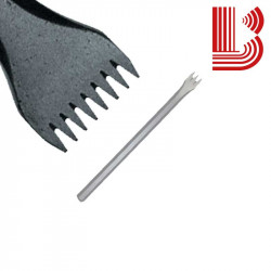 Gradina acciaio lama 26 mm fusto 12 mm 8 denti Ø12