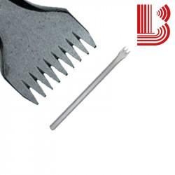 Gradina acciaio lama 34 mm fusto 14 mm 9 denti Ø12
