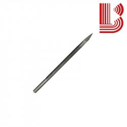 Subbia acciaio fusto 10 mm con da cilindrico da 7