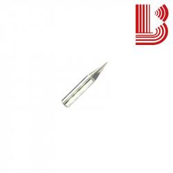 Punta per pantografo a 30° piano 1 mm forata per marmo