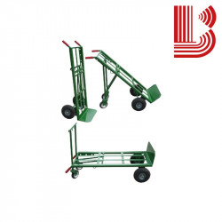 Carrello a 3 versioni con ruote pneumatiche