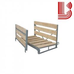 Contenitore zincato con tavole in legno