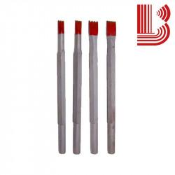 Gradina in widia rossa da 4 mm e 2 denti manuale