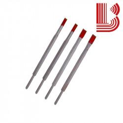 Gradina in widia rossa da 6 mm e 2 denti Ø7.5 mm