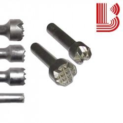 Bocciarda in widia 12 mm e 4 denti attacco Ø12.5 mm