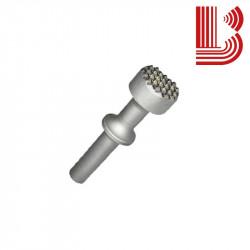 Bocciarda con ritegno 30 mm e 5 denti attacco Ø12.5 mm