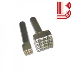 Bocciarda in widia 15x15 mm e 4 denti attacco Ø12.5 mm