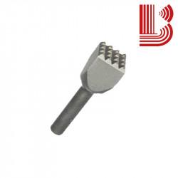 Bocciarda interc.25x25 mm e 4 denti attacco Ø12.5 mm