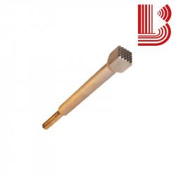 Bocciarda gambo lungo 15x15 mm e 4 denti Ø12.5 mm
