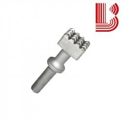 Bocciarda con ritegno 35x35 mm e 4 denti Ø12.5 mm