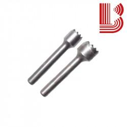 Bocciarda tonda in widia 10 mm e 12 denti Ø7.5 mm