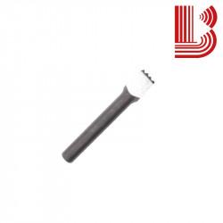 Bocciarda quadrata in widia 10x10 mm e 16 denti Ø7.5 mm